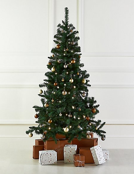 6Ft Tree, Metallic Bauble & Lights Bundle