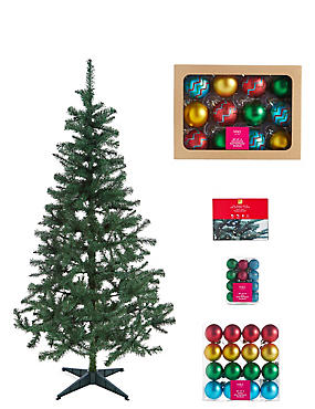 6ft tree brights bauble lights bundle