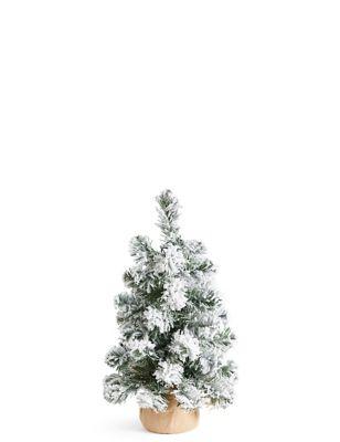 - 1.5Ft Lit Snowy Spruce Tree M&S