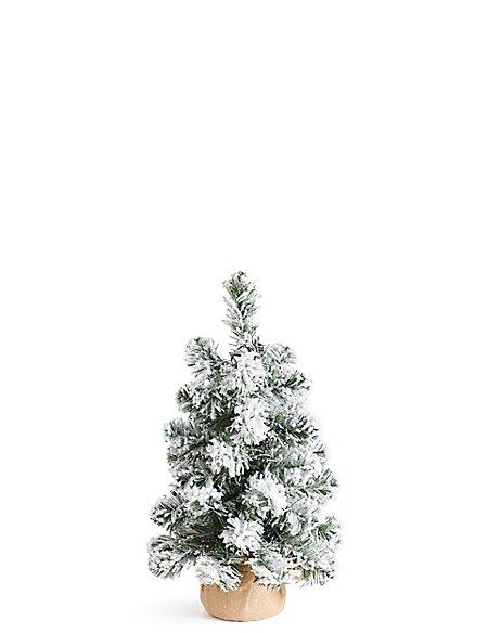1.5Ft Lit Snowy Spruce Tree
