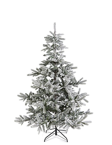 6Ft Frosted Noble Tree - 6Ft Frosted Noble Tree M&S
