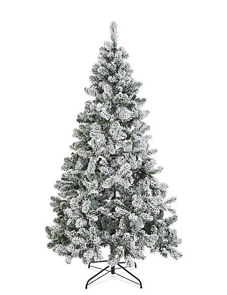 7Ft Lit Snowy Tree