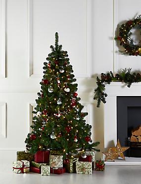 6Ft Lit Nordic Spruce Tree, , catlanding