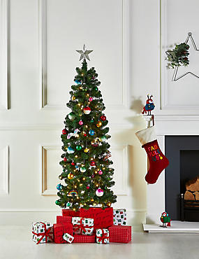 6Ft Slim Lit Nordic Spruce Tree