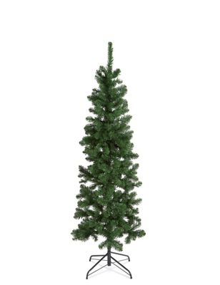 - 6Ft Slim Lit Nordic Spruce Tree M&S