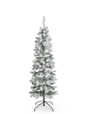 - 6Ft Slim Snowy Tree M&S