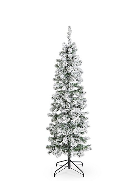 6Ft Slim Snowy Tree