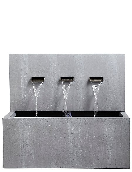 Weathered Triple Spout Water Feature