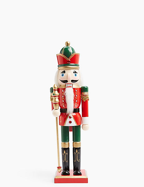Traditional Twist Nutcracker Decoration