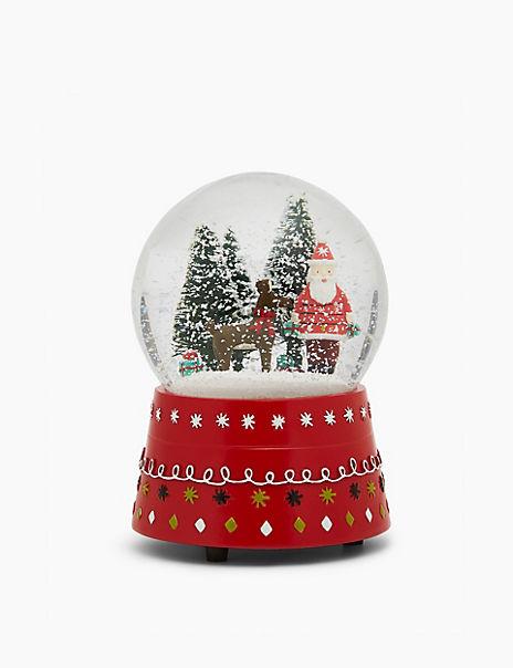 Santa Musical Snow Globe