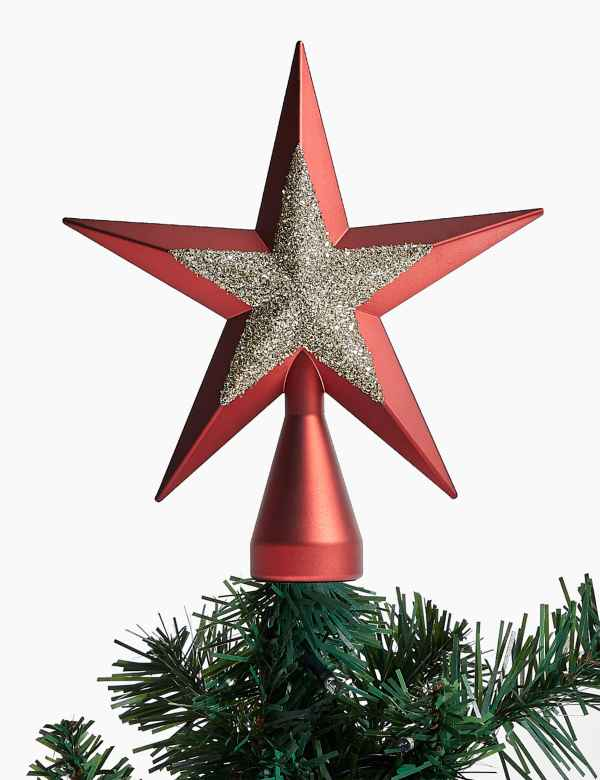 Car Christmas Tree Topper.Christmas Tree Toppers Star Snowflake Tree Toppers M S