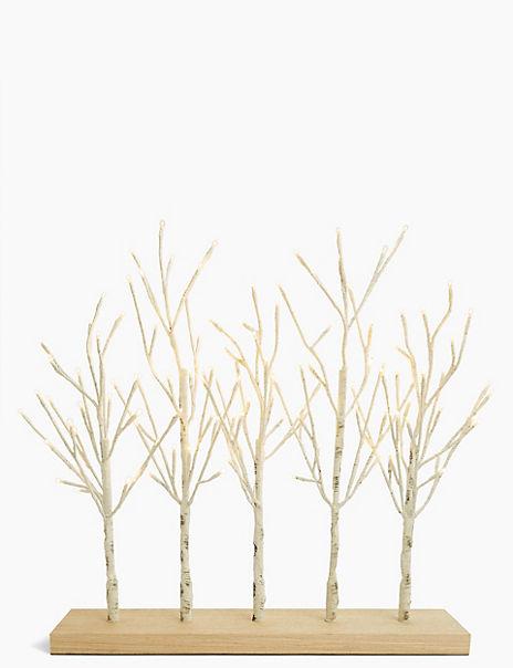 Light Up Birch Trees Room Decoration