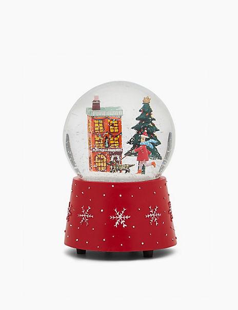Christmas Scene Musical Snow Globe