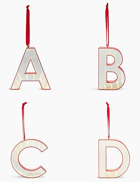 Mirror Alphabet Light Up Tree Decoration