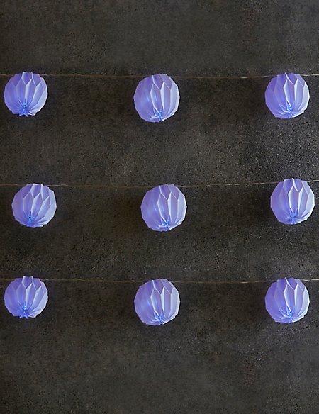 Plastic Faceted Solar String Lights