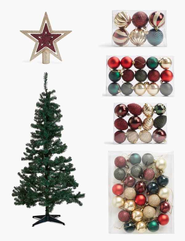 Car Christmas Tree Topper.Christmas Tree Decorations Baubles M S