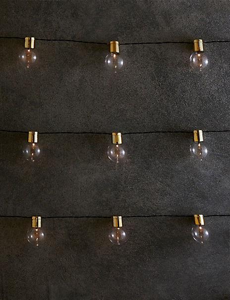 Gold Top Festoon Solar String Lights