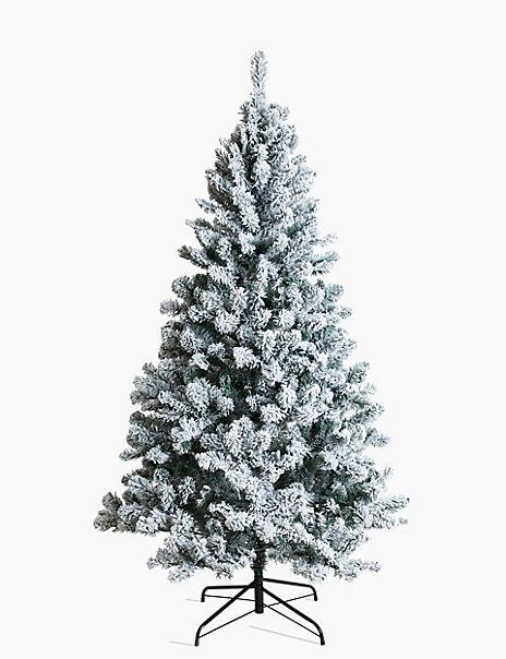 6ft Pre Lit Bright White Snowy Tree