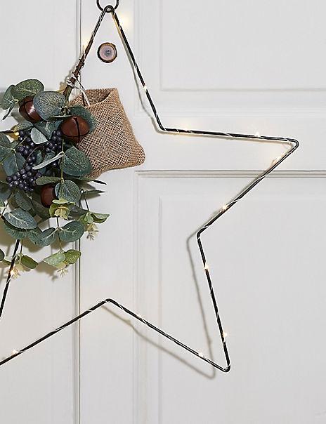 Pre Lit Star Wreath
