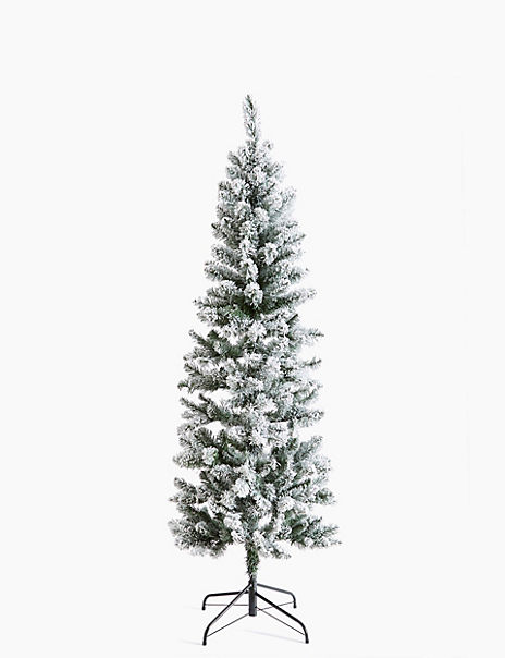 6ft Slim Snowy Christmas Tree