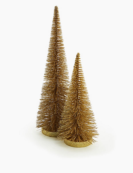 Gold Bristle Tree Room Decoration