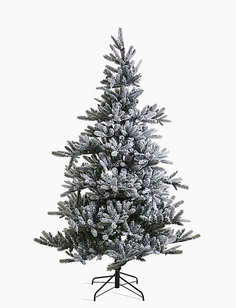 7ft Pre Lit Frosted Noble Fir Christmas Tree