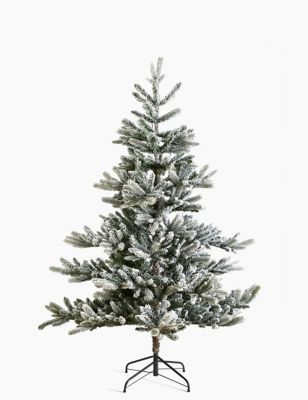 6ft Pre Lit Frosted Noble Fir Christmas Tree by Marks & Spencer