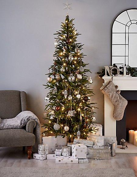 7Ft Fraser Fir Slim Pre Lit Christmas Tree - 7Ft Fraser Fir Slim Pre Lit Christmas Tree M&S