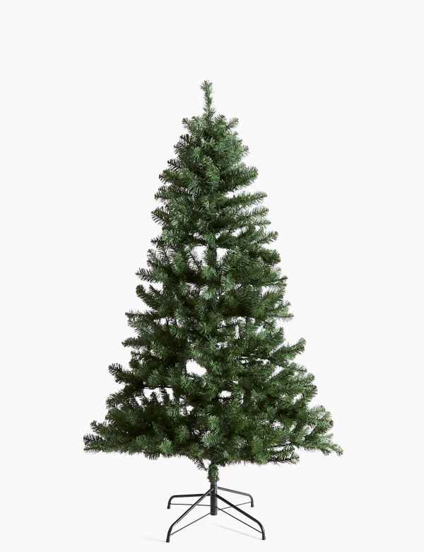 Real Christmas Trees Decorated.Christmas Trees Artificial Pre Lit Christmas Trees M S
