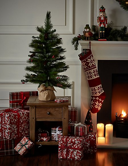 Product images. Skip Carousel. 3Ft Winterberry Christmas Tree - 3Ft Winterberry Christmas Tree M&S