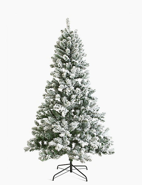 7ft Pre Lit Snowy Christmas Tree