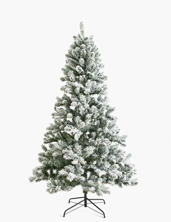 Christmas Trees Images.7ft Pre Lit Snowy Christmas Tree M S