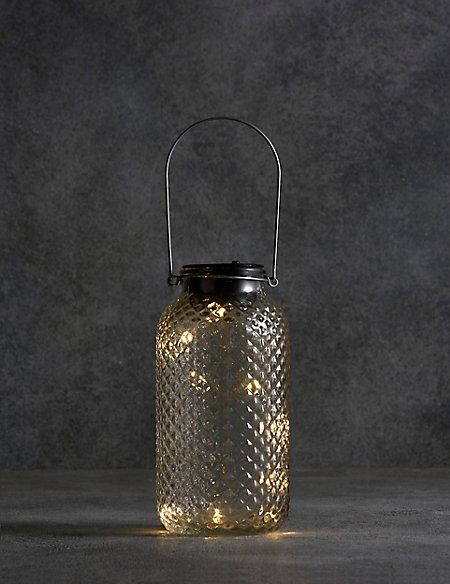 Large Clear Solar Jar Light
