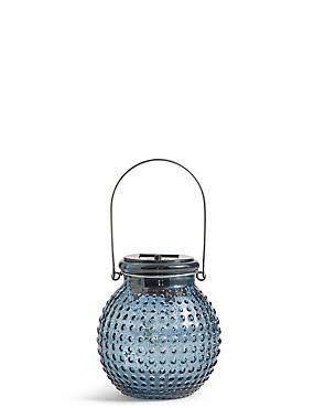 Small Blue Solar Jar Light