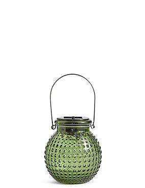 Small Green Solar Jar Light