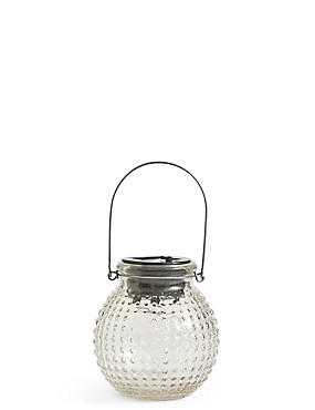 Small Clear Solar Jar Light
