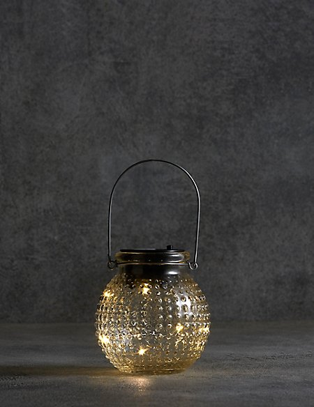 Small Clear Solar Jar Light
