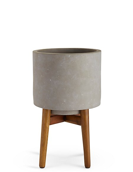 18cm Grey on Legs Planter