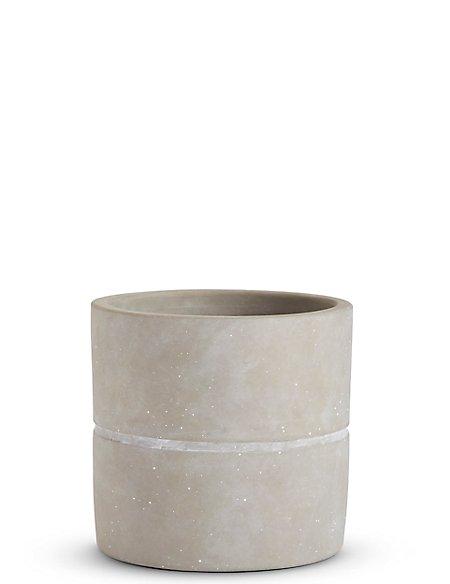14cm Medium Grey Raw Planter