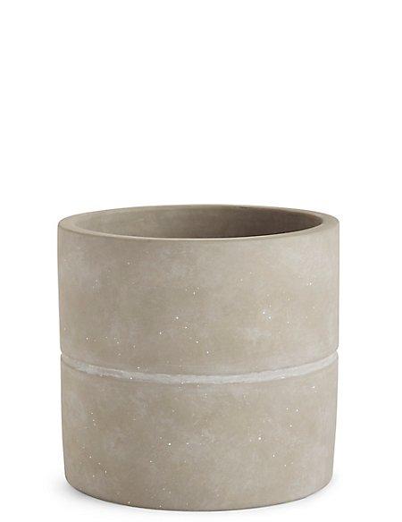 18cm Large Grey Raw Planter