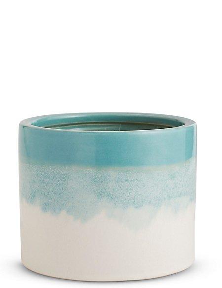 18cm Jade Reactive Glaze Planter