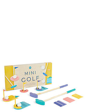 Wooden Mini Golf Set