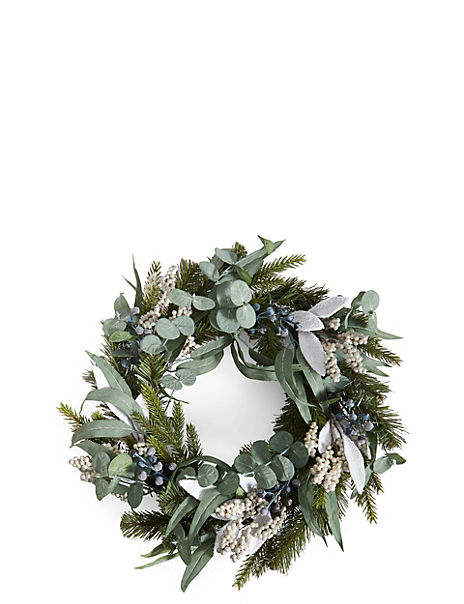 Grey Berry Wreath
