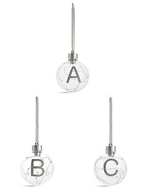 Light Up Alphabet Baubles