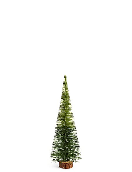 Large Green Ombre Bristle Tree