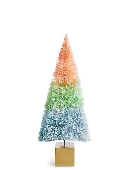 Large Multi-Colour Ombre Bristle Tree
