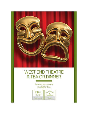 West End Show with Afternoon Tea for Two - Gift Experience Voucher