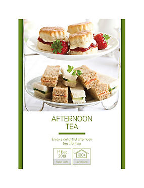 Afternoon Tea for Two - Gift Experience Voucher