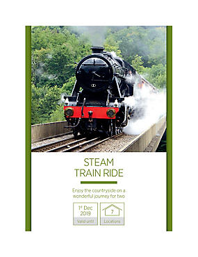Steam Train Ride for Two - Gift Experience Voucher