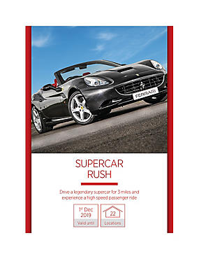 Supercar Rush - Gift Experience Voucher